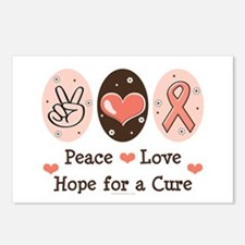 Peace Love Hope For A Cure Postcards (Package of 8
