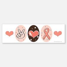 Peace Love Hope For A Cure Bumper Bumper Bumper Sticker