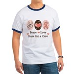 Peace Love Hope For A Cure Ringer T