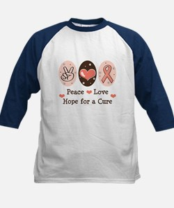 Peace Love Hope For A Cure Tee