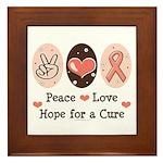 Peace Love Hope For A Cure Framed Tile