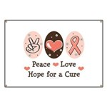 Peace Love Hope For A Cure Banner