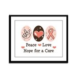 Peace Love Hope For A Cure Framed Panel Print