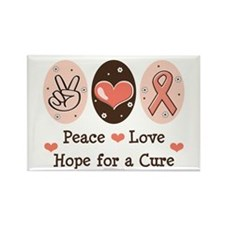 Peace Love Hope For A Cure Rectangle Magnet