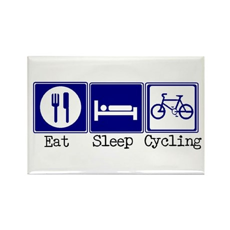 Eat, Sleep, Cycling Rectangle Magnet