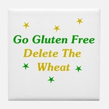 Go Gluten Free: Delete The Wheat Tile Coaster
