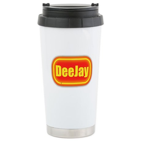 Neon Sign Deejay Stainless Steel Travel Mug