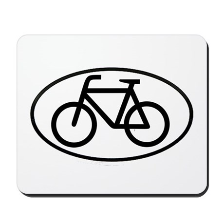 Bicycle Oval Mousepad