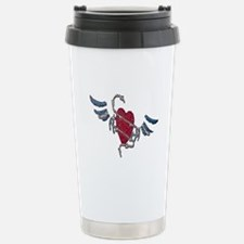 LEATHER PRIDE MOSAIC WING HEART Travel Mug