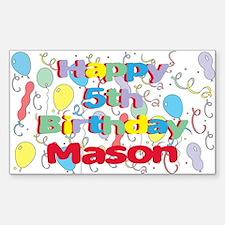 Mason's 5th Birthday Rectangle Decal