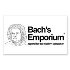 Support Bach's Emporium Rectangle Decal