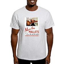 Mallets Ash Grey T-Shirt