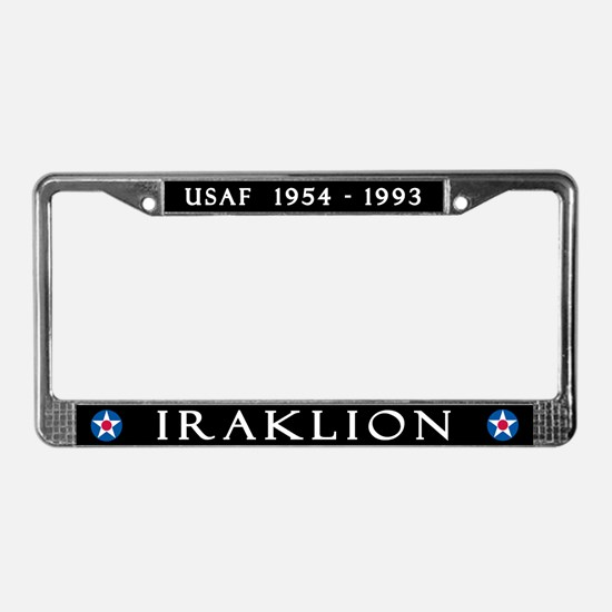 Iraklion Air Station License Plate Frame