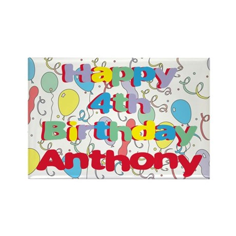 Anthony's 4th Birthday Rectangle Magnet