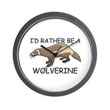 I'd Rather Be A Wolverine Wall Clock