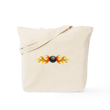 Bowling Flames Tote Bag