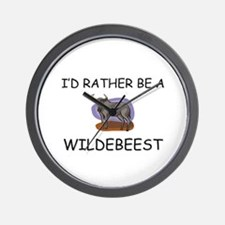 I'd Rather Be A Wildebeest Wall Clock