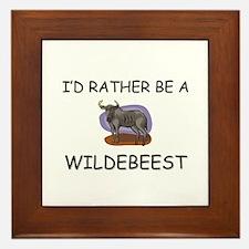I'd Rather Be A Wildebeest Framed Tile