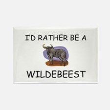 I'd Rather Be A Wildebeest Rectangle Magnet