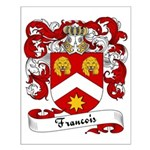 Francois Family Crest Small Poster