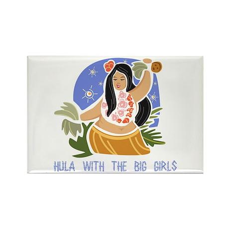 BBW Hula - Rectangle Magnet