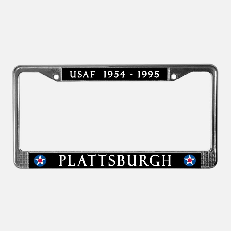 Plattsburgh AFB License Plate Frame