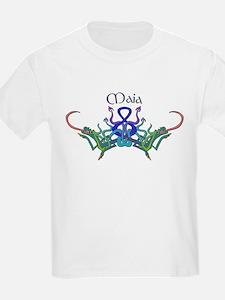 Maia's Celtic Dragons Name Kids T-Shirt