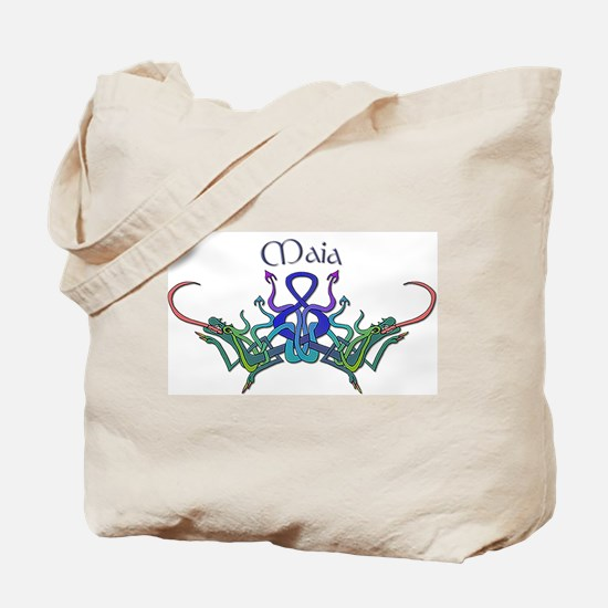 Maia's Celtic Dragons Name Tote Bag