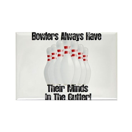 Minds in the Gutter Rectangle Magnet