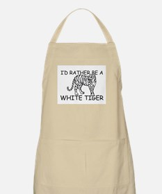 I'd Rather Be A White Tiger BBQ Apron