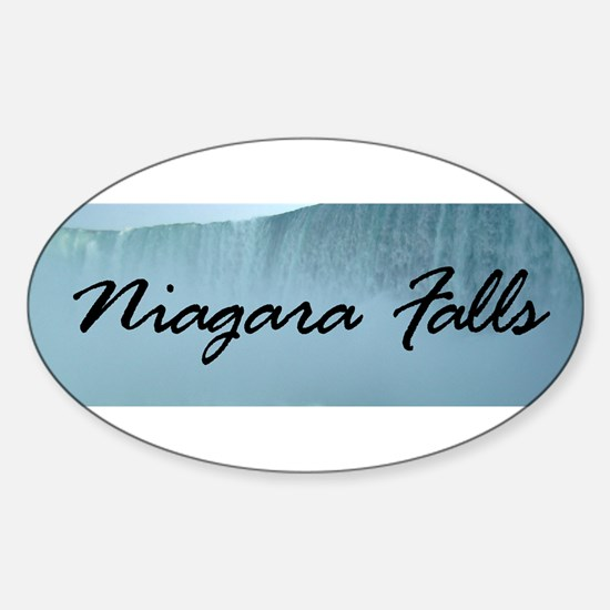 Niagara Falls Canada Oval Decal