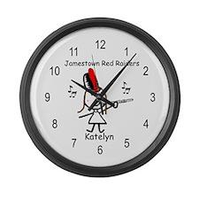 Flute - Katelyn Large Wall Clock