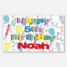 Noah's 5th Birthday Rectangle Decal