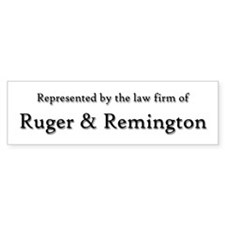 Law Firm of RUGER and REMINGTON Bumper Sticker