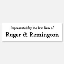 Law Firm of RUGER and REMINGTON Sticker (Bumper)