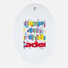 Caden's 4th Birthday Oval Ornament