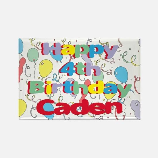 Caden's 4th Birthday Rectangle Magnet