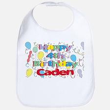 Caden's 4th Birthday Bib