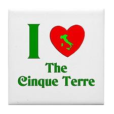I Love the Cinque Terre Tile Coaster