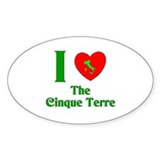 I Love the Cinque Terre Oval Decal