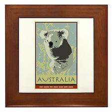 Australia I Framed Tile