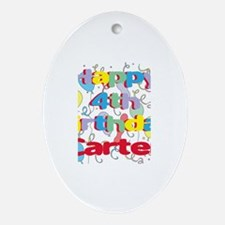 Carter's 4th Birthday Oval Ornament