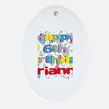 Arianna's 6th Birthday Oval Ornament