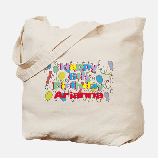 Arianna's 6th Birthday Tote Bag