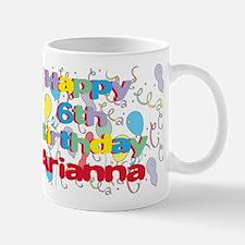 Arianna's 6th Birthday Mug