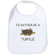 I'd Rather Be A Turtle Bib