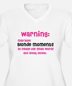 May have blonde moments (Plus Size V-Neck T-Shirt)