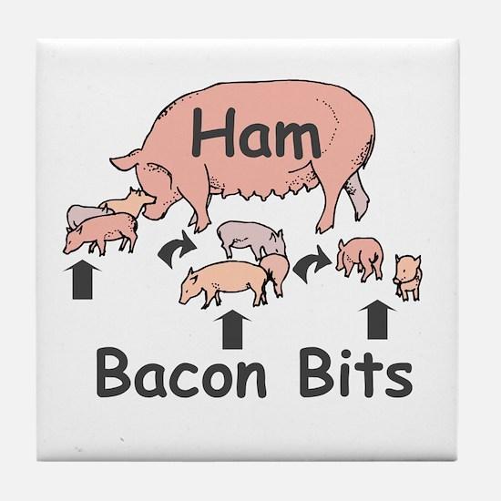 Bacon Bits Tile Coaster