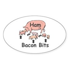 Bacon Bits Oval Decal