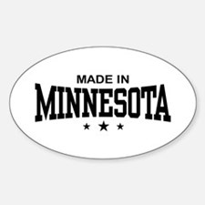 Made in Minnesota Oval Decal